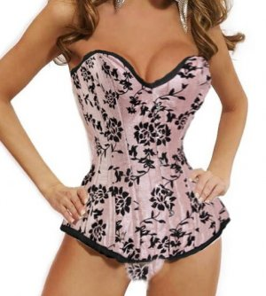 Sexy Lingerie Floral Brocade Overbust Corset Sweetheart with Lace Up Back  Bodysuits S38