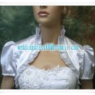 2012 New Instock White Red Green Blue Satin Wedding Jackets Short Sleeve Bridal Bolero Jacket Shawl