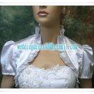 2012 New Instock White Red Green Blue Satin Wedding Jackets Short Sleeve Bridal Bolero Jacket Shawl