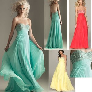 South Africa -Strapless Blue Red Yellow Chiffon Ruffled Beaded Evening Dress Party Dress
