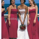 Retail Hot Sale Strapless Bridal Gown White Red Satin Embroider Beaded Wedding Dress AN045