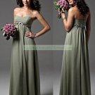 Custom Prom Dress Sage Green Chiffon Bridesmaid Dress Braided Long Olive Empire Evening Dress 1 PCS