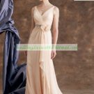 Double Straps Pink Chiffon Ruffled Beaded the Mother of  Bridal Dress for Sarah Reorder