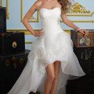 2012 Strapless White Organza Ruffled Beaded Wedding Dress Bridal Dress 6721