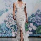 2012 New Style Double Straps White Ivory Lace Applique Bridal Gown wedding dress CS7