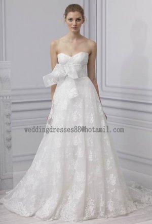 2012 New Style Strapless White Ivory Lace Belt Bridal Gown wedding dress CS22