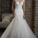 2012 New Style White Ivory Tulle Lace Applique Beaded  Bridal Gown wedding dress 309