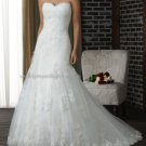 2012 New Style Strapless White Ivory Lace Applique Beaded Bridal Gown wedding dress 317