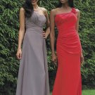 2012 Hot Sale Gray Red Chiffon Pleat Two Kinks Style Bridesmaid Dress Evening Dress