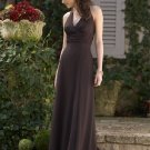 2013 Hot Sale Halter Coffee Chiffon Pleat Bridesmaid Dress Evening Dress Party Dress