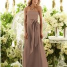 2013 Hot Sale Strapless Champagne Chiffon Pleat Bridesmaid Dress Evening Dress Party Dress