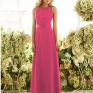 2013 Hot Sale Double Straps Pink Red Chiffon Pleat Bridesmaid Dress Evening Dress Party Dress