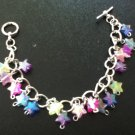 Multi color star charm bracelet