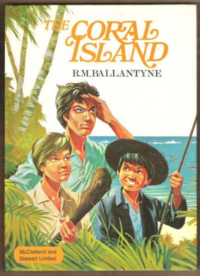 CORAL ISLAND by R.M. Ballantyne, Hardcover 1969, Scarce Editio