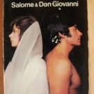 SALOME & DON GIOVANNI by Gaia Servadio, Paperback 1st 1973 RARE