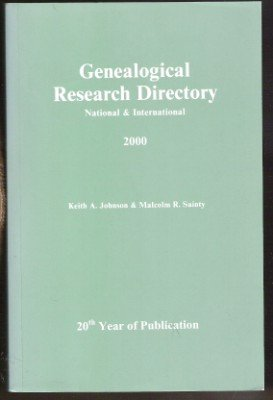 GENEALOGICAL RESEARCH DIRECTORY, Nat'l & Int'l, Softcover 2000, Johnson & Sainty