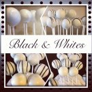 1/2 dozen Black and White Cake Pops