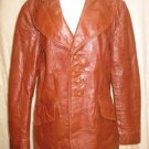 Women&#39;s  Adam & Eve Brown Leather Jacket Coat S EUC