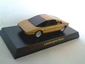 Kysoho Lamborghini Bravo golden 1/64 die cast model car
