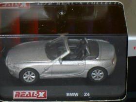 BMW Z4 silver 1/72 die cast model car