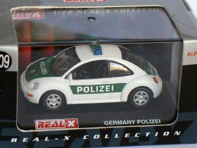 New Beetle Germany Polizei 1998 green/white 1/72 die cast model car