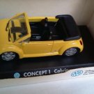Volkswagen Concept 1 Cabrio 1994 open yellow 1/43 die cast model car (Rare)