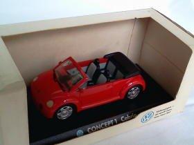 Volkswagen Concept 1 Cabrio 1994 open red 1/43 die cast model car (Rare)