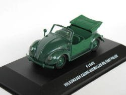 Volkswagen Cabrio Hebmuller Military closed 1/43 die cast model car (Rare)