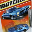 Matchbox Pontiac Firebird Formula Blue 1/65 Die Cast Model Car