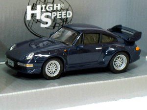 Porsche 911 GT2 1996  blue 1/43 die cast model car