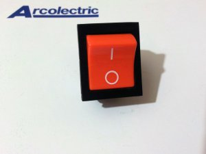 Arcolectric High Inrush Rocker Switch(Orange) 16(4)A 250V T85 1E4 (Lot of 2 pcs)