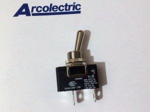 Arcolectric Metal Toggle Switch 16(4) 250Vac T85 Single pole (black) (Lot of 2 pcs)