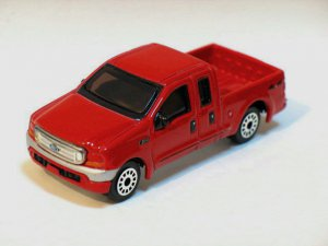 Ford Pick Up F350 Red 1/64 Die Cast Model Car