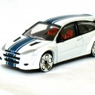 Ford Focus WRC White Blue 7.5Cm Die Cast Model Car