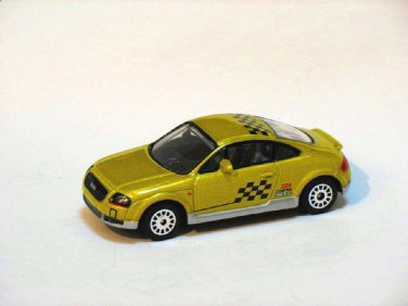 Audi TT Coupe 1988 Light Yellow 1/64 Die Cast Model Car (Rare)