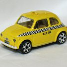 Flat 500 N.Y.C. Taxi 1968 Yellow 1/43 Die Cast Model Car