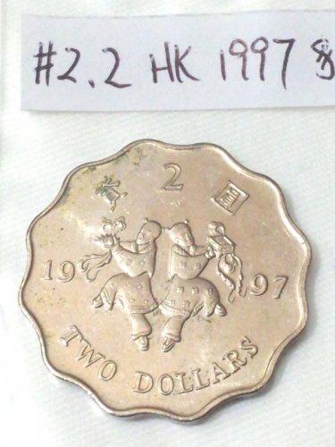 Hong Kong Coin 1997  Two Dollars ���� (Ho Ho Brothers commemorative)