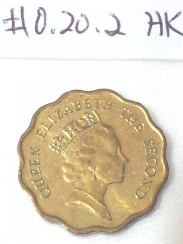 Hong Kong Coins 1991 20 Cents