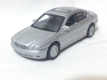 Jaguar X Type 2001 Silver 1/72 Die Cast Model Car