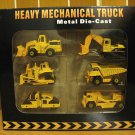 Heavy Mechanical Truck Set (6 pcs/set) 8 cm Die Cast Model (Rare)