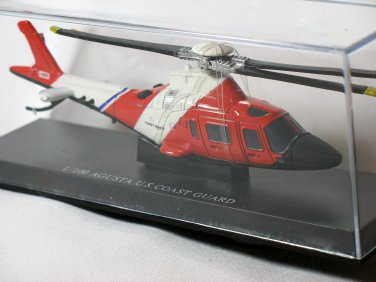 Agusta Carabinieri Sky Pilot U.S. Coast Guard Helicopter Black Red 1/100 Die Cast Model
