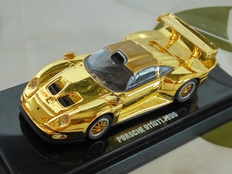 Porsche 911GTI 1996 1/64 Golden Die Cast Model Car