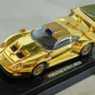 Porsche 911GTI 1996 1/64 Golden Die Cast Model Car