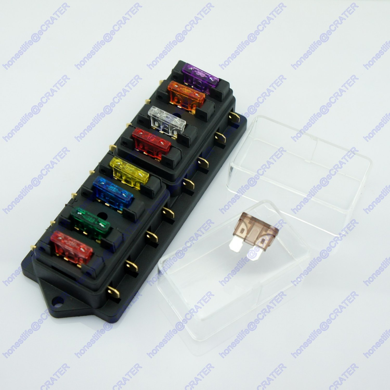 8 Way ATU Standard Blade Fuse Box Holder 12V 24V Car Truck RV Camper Boat Marine
