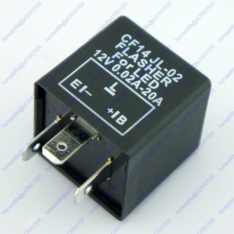3 Pin Car Turn Signal Indicator Flasher Relay Fix LED Hyper Flash CF14 JL02 EP35