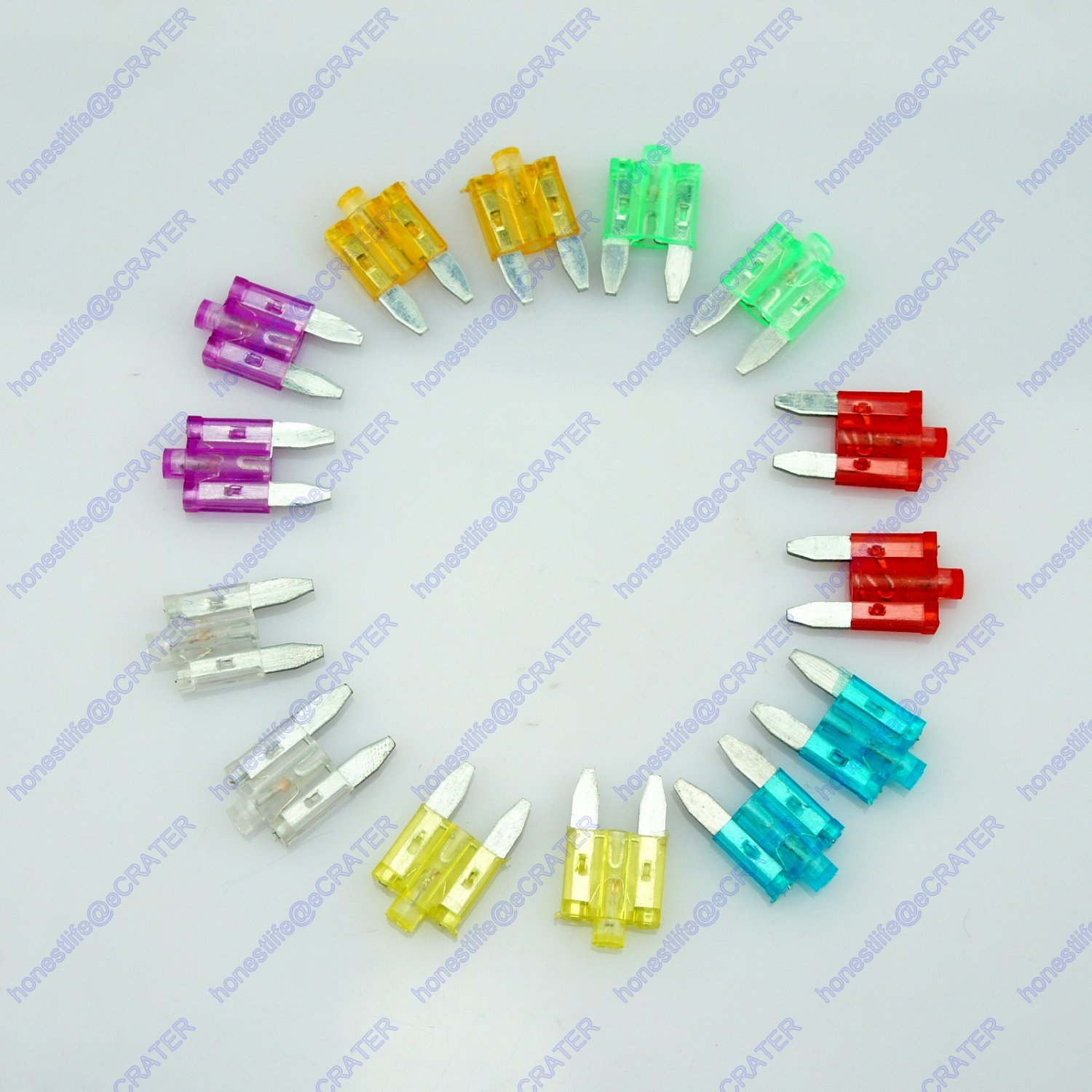 14 ATS LED Mini Blade Fuse Auto Car Suv Truck Boat RV 12V 24V 5A-35A Glow Blow