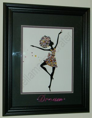Black Ballerina - Gorgeous Framed Art!