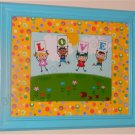 Baby Decor Framed Art - Children Love The World!