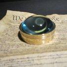 Vintage Antique Style Solid Brass Heavy Glass Magnifying Desktop Lens