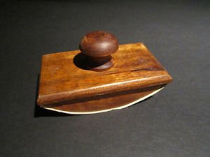 19th C Antique Style Solid Wood Ink Blotter Desktop Writing